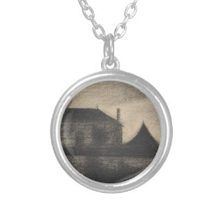 House at Dusk (La Cité) Silver Plated Necklace