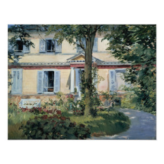 House at Rueil by Edouard Manet Photo Print