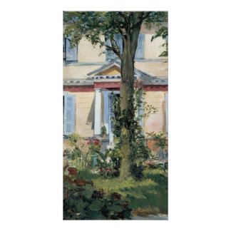 House at Rueil by Edouard Manet Customized Photo Card