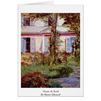 House At Rueil By Manet Edouard Card
