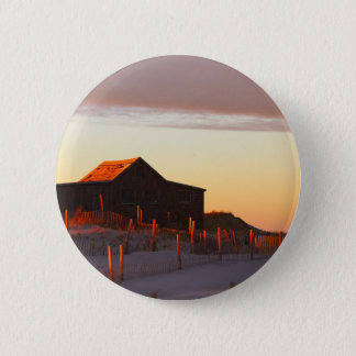House at Sunset - 1 2 Inch Round Button