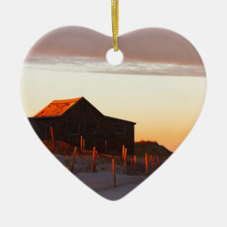 House at Sunset - 1 Ceramic Ornament