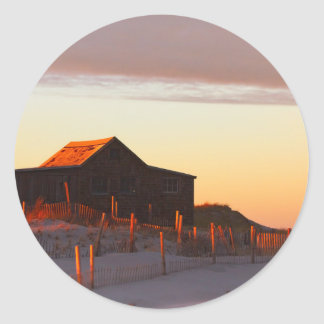 House at Sunset - 1 Classic Round Sticker