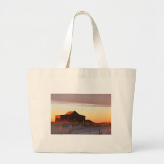 House at Sunset - 1 Large Tote Bag