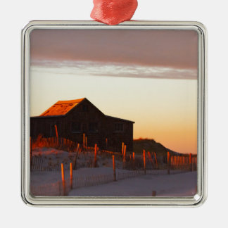 House at Sunset - 1 Metal Ornament