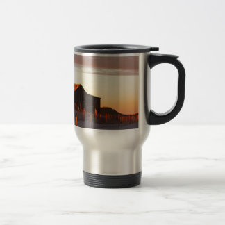 House at Sunset - 1 Travel Mug