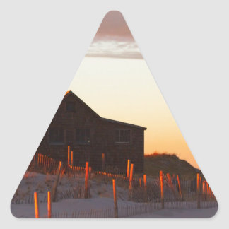 House at Sunset - 1 Triangle Sticker