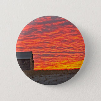 House at Sunset - 2 2 Inch Round Button