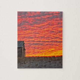 House at Sunset - 2 Jigsaw Puzzle