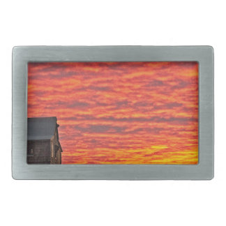 House at Sunset - 2 Rectangular Belt Buckle