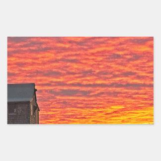 House at Sunset - 2 Sticker