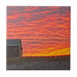 House at Sunset - 2 Tile
