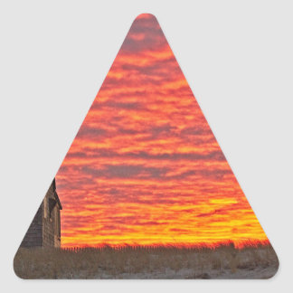 House at Sunset - 2 Triangle Sticker
