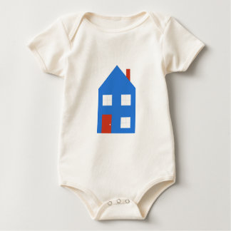 House blue baby bodysuit