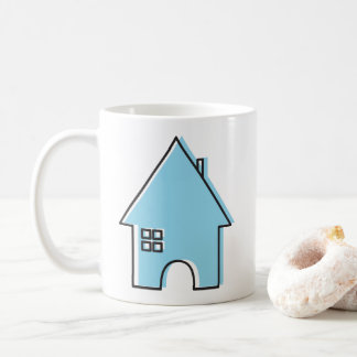 House(blue) Coffee Mug