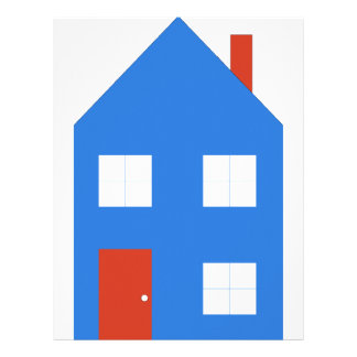 House blue letterhead
