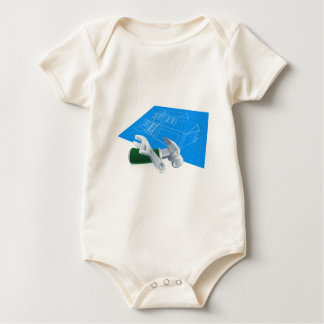 House Blueprint and Tools Baby Bodysuit
