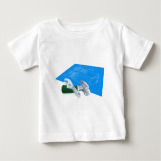 House Blueprint and Tools Baby T-Shirt