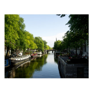 House Boats on Amsterdam Canal Postcard