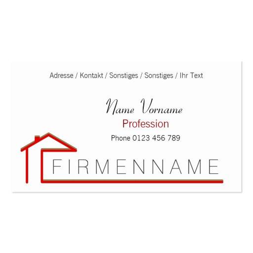 house-build business card