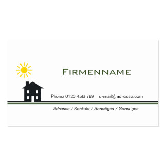House Pack Of Standard Business Cards