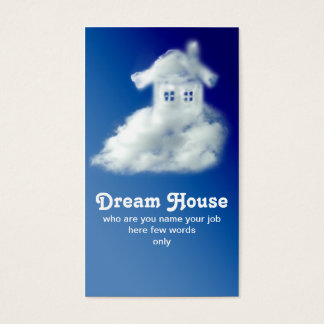 house business card for agent Real Estate Agent