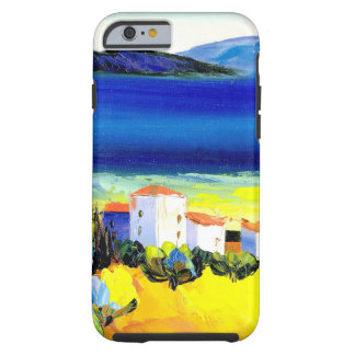 house by the sea colorful oil painting travel fun tough iPhone 6 case
