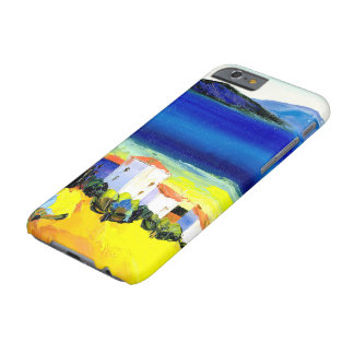house by the sea colorful oil painting travel fun barely there iPhone 6 case