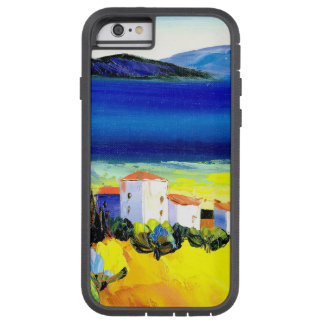 house by the sea colorful oil painting travel fun tough xtreme iPhone 6 case