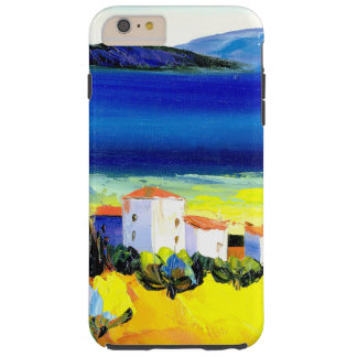 house by the sea colorful oil painting travel fun tough iPhone 6 plus case