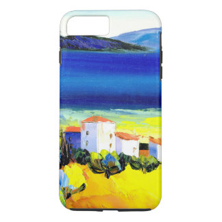 house by the sea colorful oil painting travel fun iPhone 7 plus case