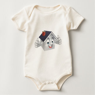 House Cartoon Character Baby Bodysuit