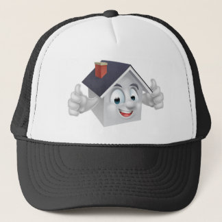 House Cartoon Character Trucker Hat