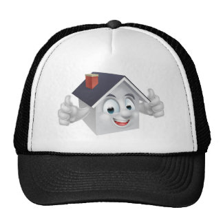 House Cartoon Character Trucker Hat