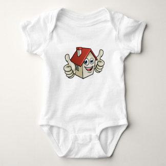 House Cartoon Mascot Character Baby Bodysuit