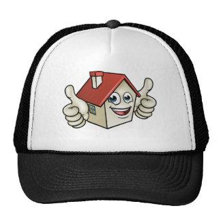 House Cartoon Mascot Character Trucker Hat