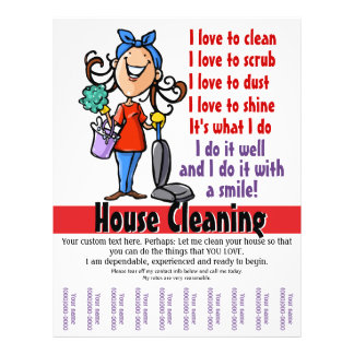 House Cleaner Promotional flyer
