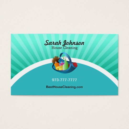 house cleaning business card template zazzleca
