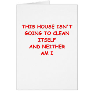 house cleaning card