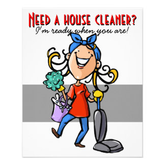 House Cleaning, Custom business promotional. Full Color Flyer