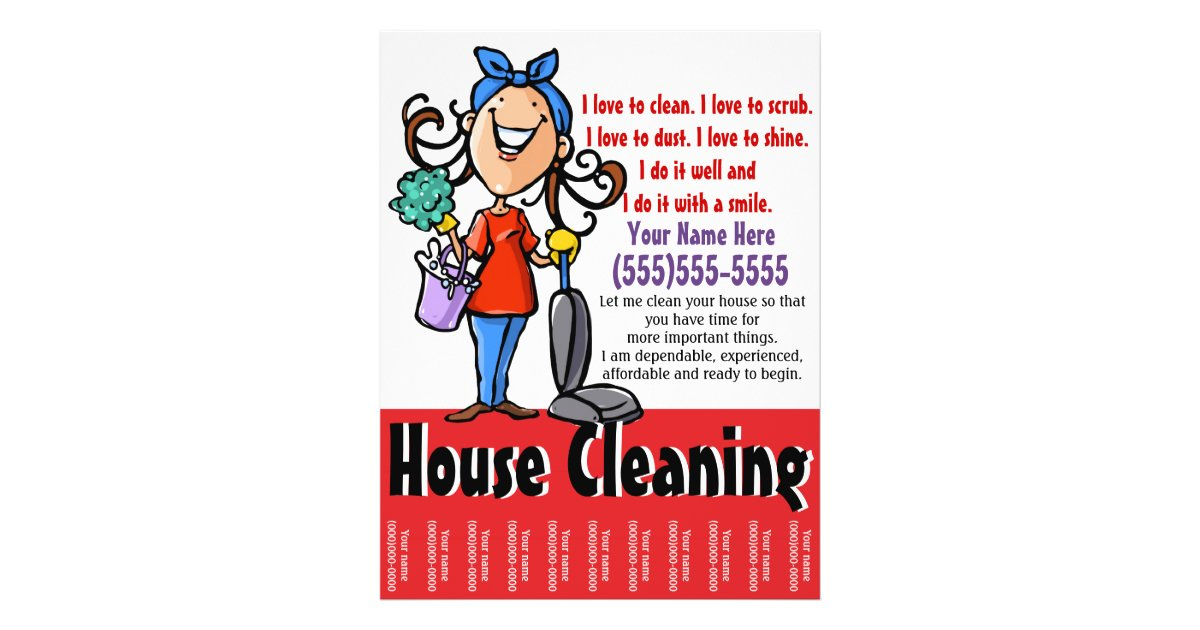 House Cleaning Marketing flyer | Zazzle.ca