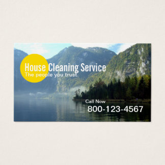 House Cleaning Mountain Lake Professional Business Card