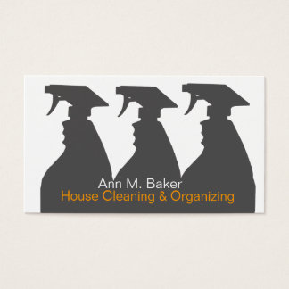 House Cleaning Organizing Services Business Card