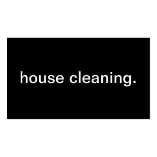 House Cleaning Pack Of Standard Business Cards