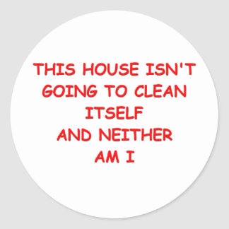 house cleaning sticker
