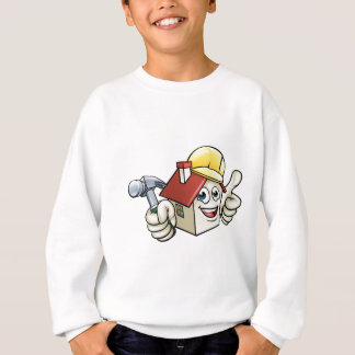 House Construction Mascot Cartoon Character Sweatshirt