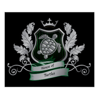 House Crest Turtle Image Poster