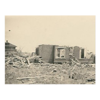 house destroyed natural disaster postcard