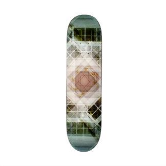 house door kaleidoscope skate board deck