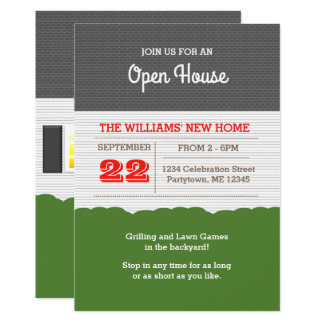 House Facade Open House Invitation